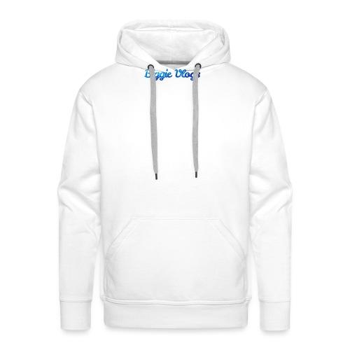 blue BiggieVLogs Kids tshirt - Men's Premium Hoodie