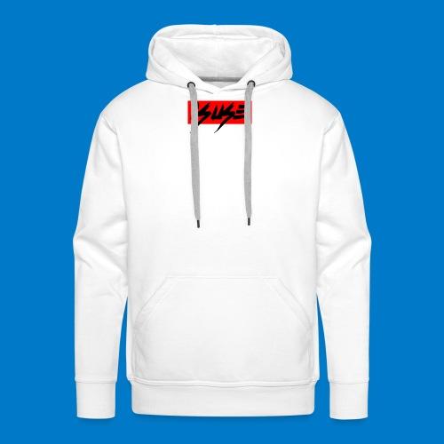 box logo red isuse - Sudadera con capucha premium para hombre