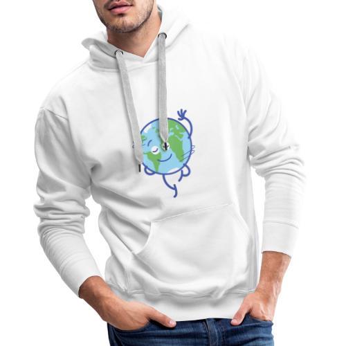 Nice planet Earth rotating graciously - Men's Premium Hoodie