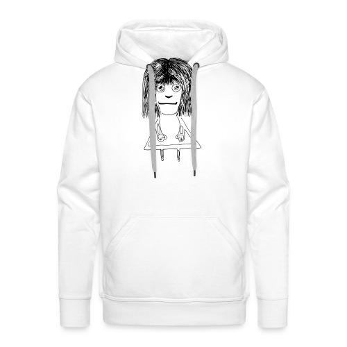 Girl - Bluza męska Premium z kapturem