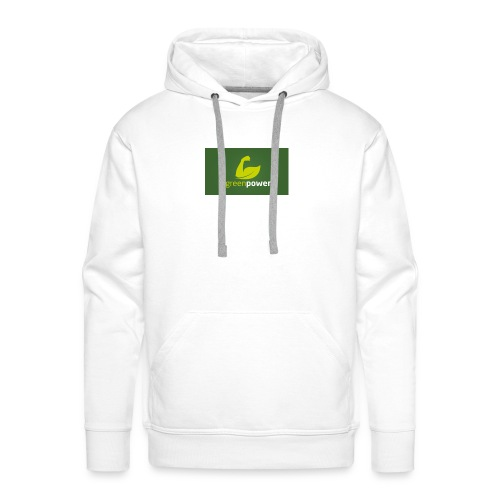 Green Power fitness logo - Men's Premium Hoodie