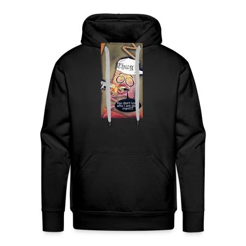 Coussin gangsta😃 - Sweat-shirt à capuche Premium pour hommes