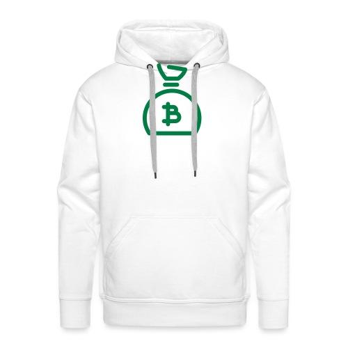 Bitcoin geldzak - Mannen Premium hoodie