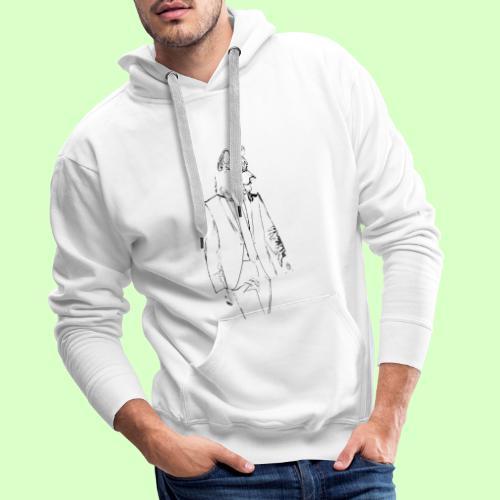 WOLF STYLE!! - Sudadera con capucha premium para hombre