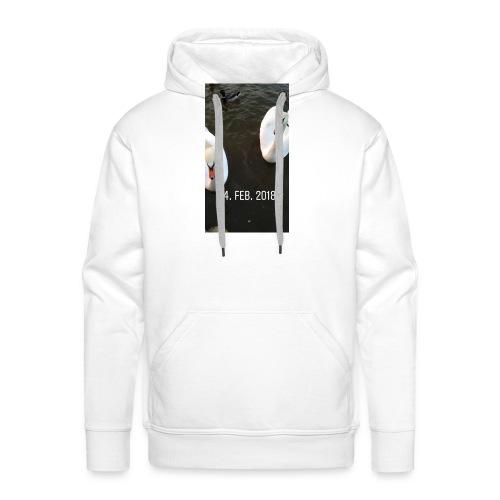 den hvide svane - Herre Premium hættetrøje