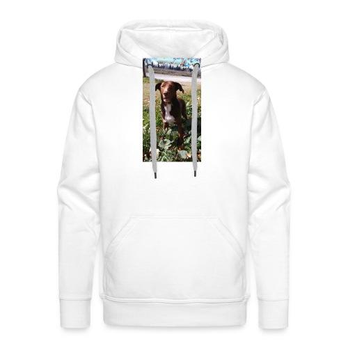 Choco en el jardín - Sudadera con capucha premium para hombre