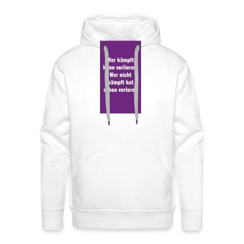 Sprüche lesen lachen überlegen - Männer Premium Hoodie