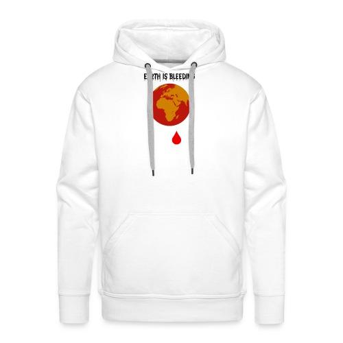 Earth is bleeding - Sweat-shirt à capuche Premium pour hommes