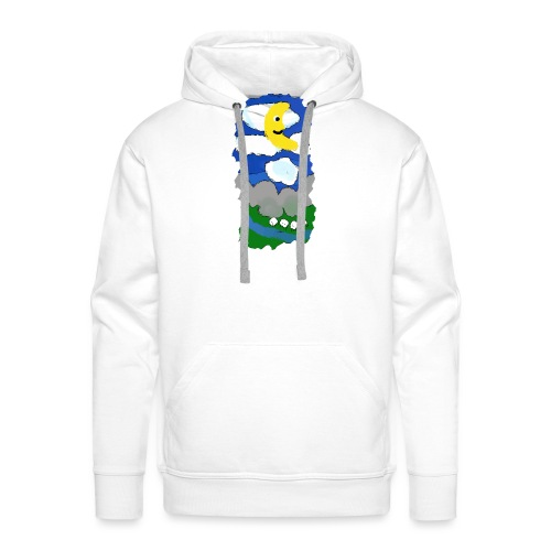 smiling moon and funny sheep - Men's Premium Hoodie