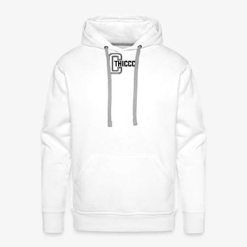 thiccc logo White - Men's Premium Hoodie