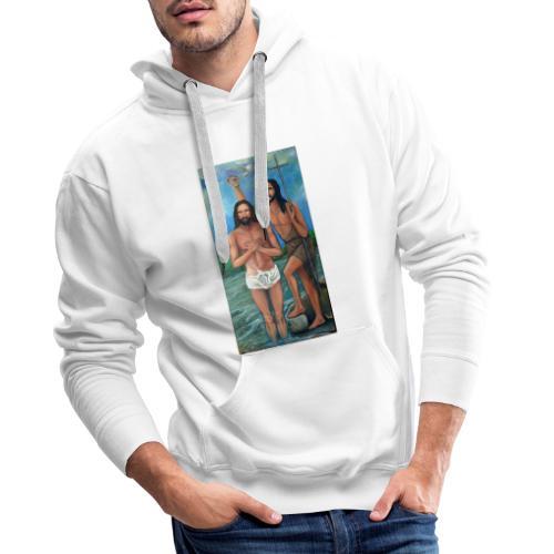 Bautismo de Jesús - Sudadera con capucha premium para hombre