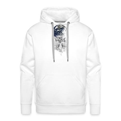 atlasfunnyspacemenBlackBa - Sweat-shirt à capuche Premium pour hommes