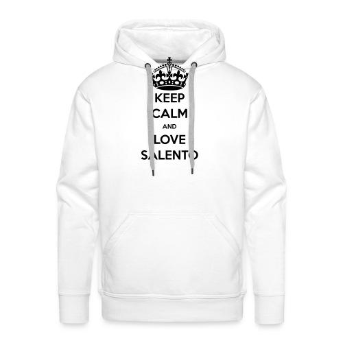 KEEP CALM LOVE SALENTO - Felpa con cappuccio premium da uomo
