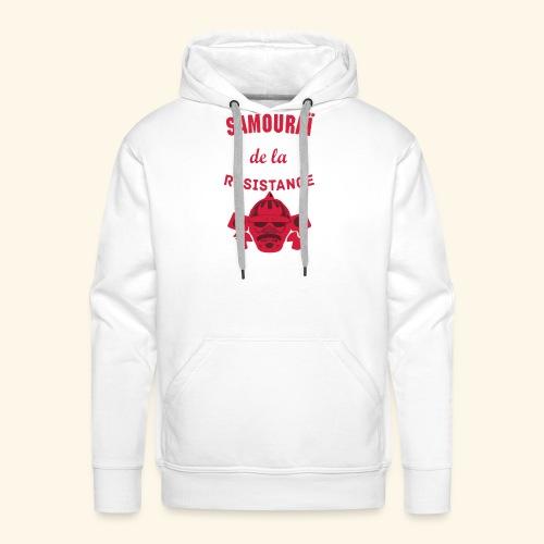 samourai de la résistance - Sweat-shirt à capuche Premium pour hommes