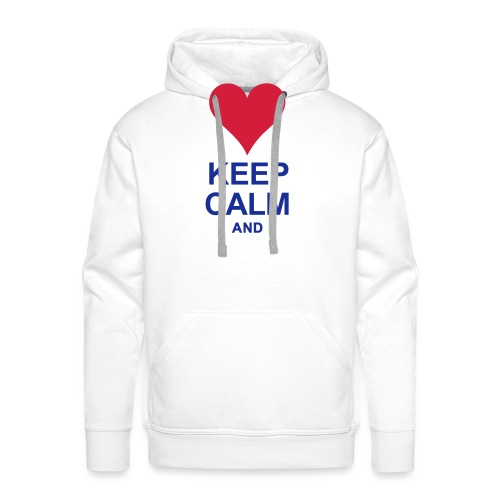 Be calm and write your text - Men's Premium Hoodie