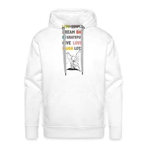 Koelner Engel Spruch_live - Männer Premium Hoodie