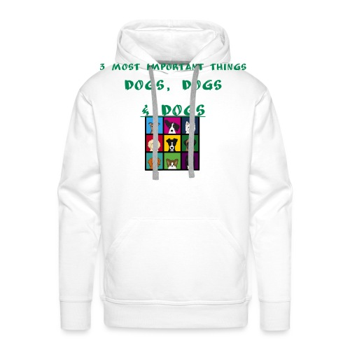 3 most important things - - Men's Premium Hoodie