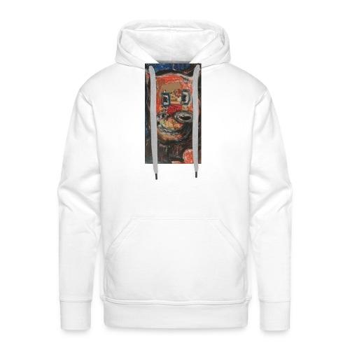 Loup Love - Sweat-shirt à capuche Premium pour hommes