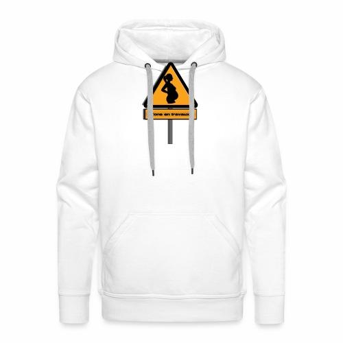 zone_travaux - Sweat-shirt à capuche Premium pour hommes