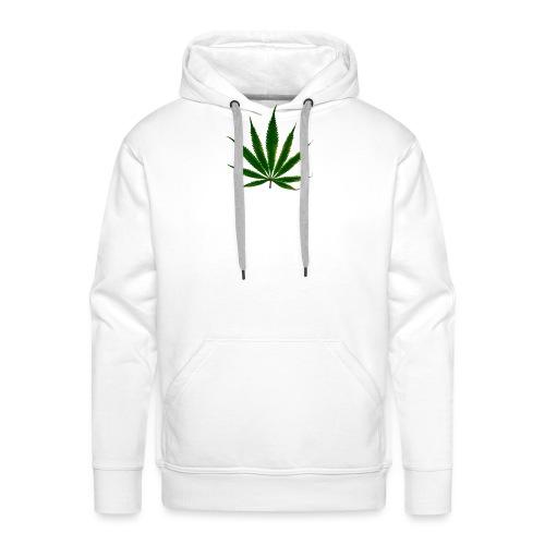 cannabis leaf - Sweat-shirt à capuche Premium pour hommes