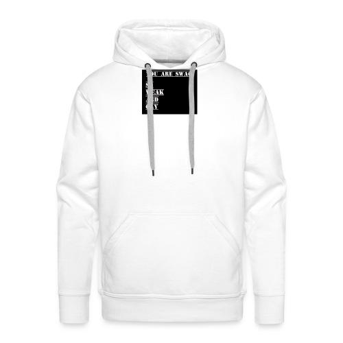 So weak and gay shirt - Men's Premium Hoodie