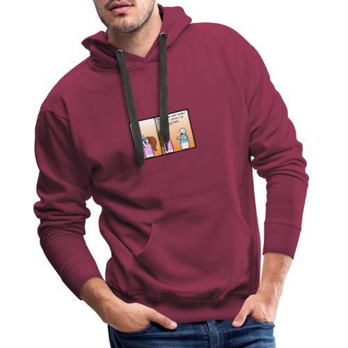 doute - Sweat-shirt à capuche Premium pour hommes
