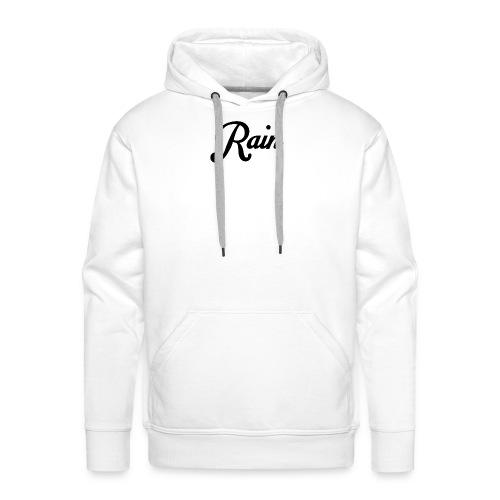 Rain Hoodie 2 White - Sudadera con capucha premium para hombre