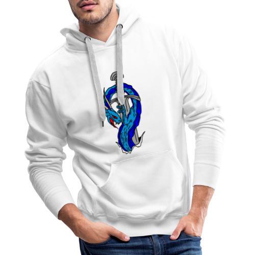 daga dragon vectorizado - Sudadera con capucha premium para hombre