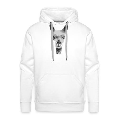 alpaca - Felpa con cappuccio premium da uomo