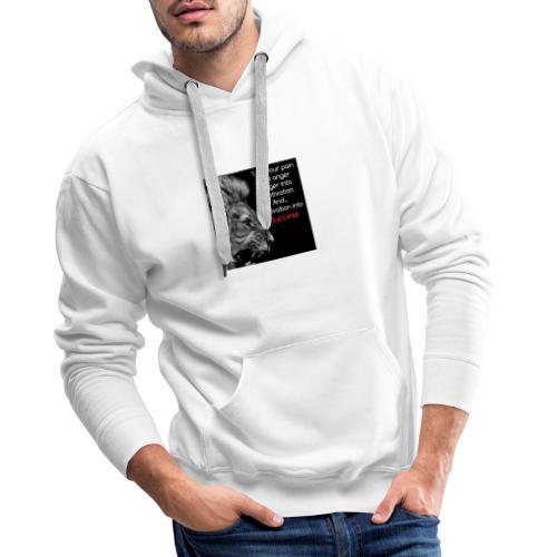 ANGER MOTIVATION SUCCES - Mannen Premium hoodie