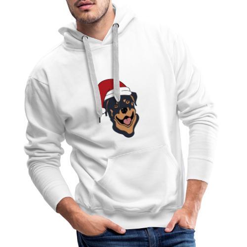 Weihnachtsmann Rottweiler - Männer Premium Hoodie
