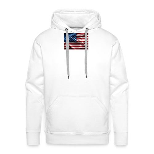 amerikaanse vlag - Mannen Premium hoodie