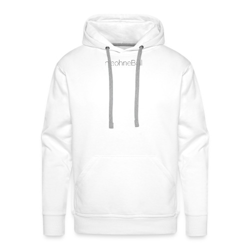 nieohneBall Statement - White Edition - Männer Premium Hoodie
