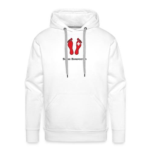 Swiss Barefooter Logo mit Schrift Space - Männer Premium Hoodie