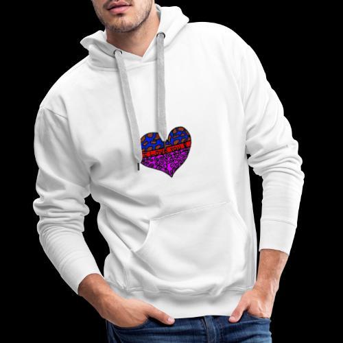 Herz Leben Welt Love you - Männer Premium Hoodie