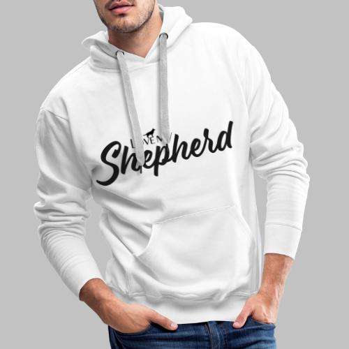 LOVE MY SHEPHERD - Black Edition - Dog Lover - Männer Premium Hoodie