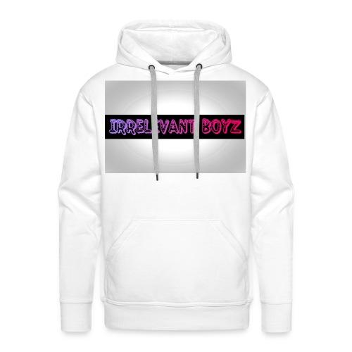 Irrelevant Boyz Grey And Luminous - Men's Premium Hoodie