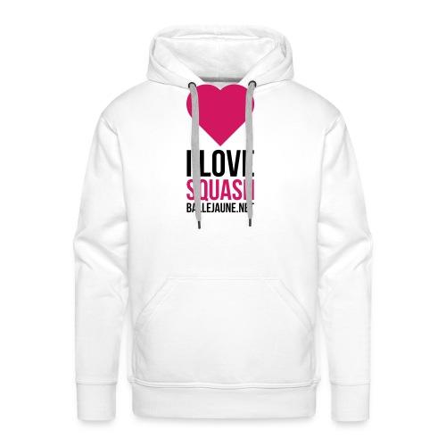 i-love-squash - Sweat-shirt à capuche Premium pour hommes
