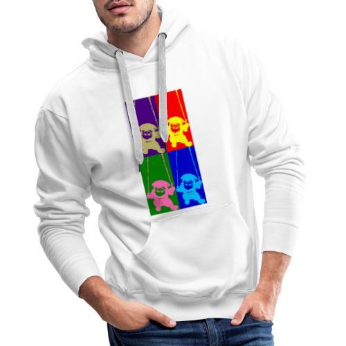pug-warhol - Sweat-shirt à capuche Premium pour hommes