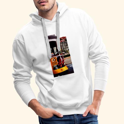 Scorcio tram colorato - Felpa con cappuccio premium da uomo