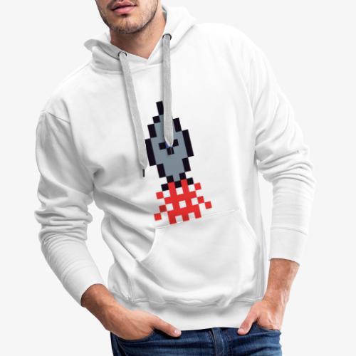 Pixel Rakete - Männer Premium Hoodie