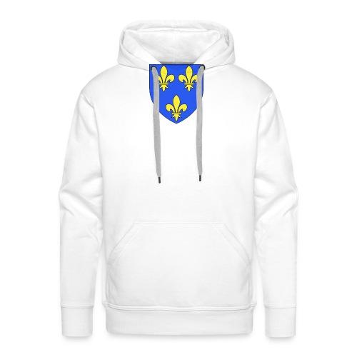 Blason royal 3 fleurs de Lys - Sweat-shirt à capuche Premium pour hommes