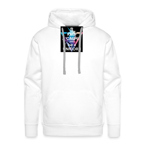 keep calm and be a unicorn - Men's Premium Hoodie