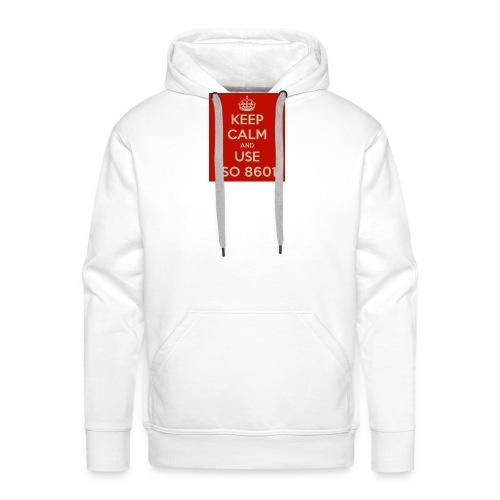 keep calm and use iso 8601 - Premium hettegenser for menn