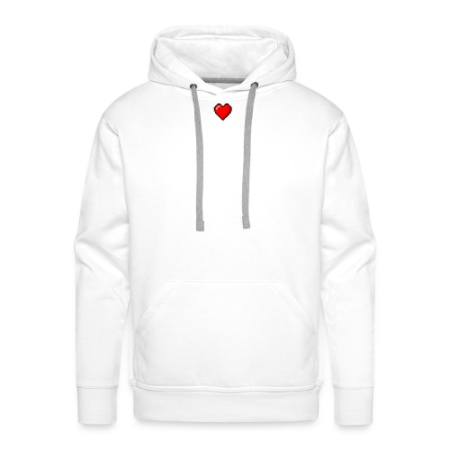 8BIT HEART - Sudadera con capucha premium para hombre