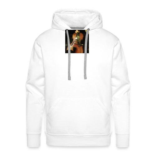Biały t-shirt aesthetic violin&rose - Bluza męska Premium z kapturem