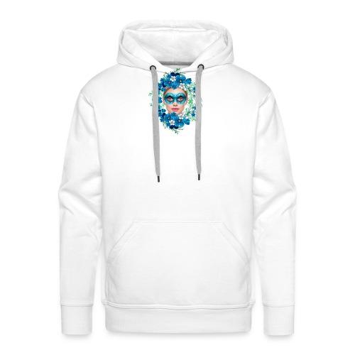 mujer floral - Sudadera con capucha premium para hombre
