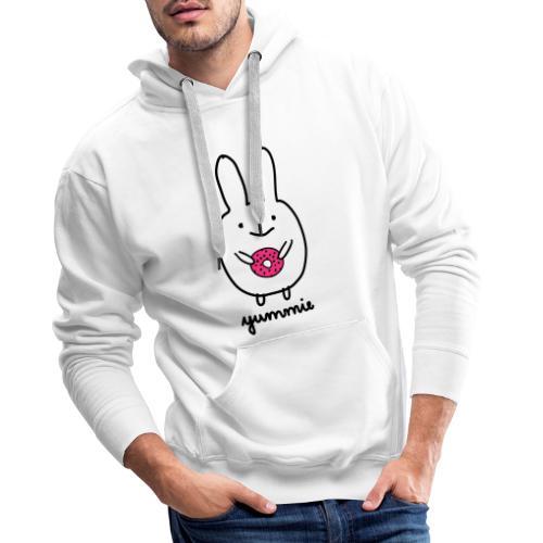 Dirk yummie hase kaninchen bunny häschen donut - Männer Premium Hoodie