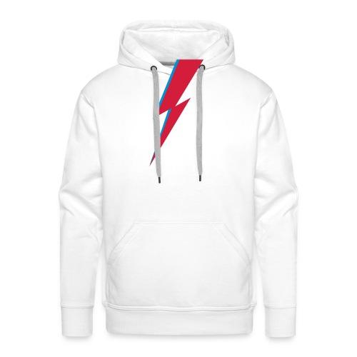 Blitz, Musik, Bowie, heroes, blackstar, rebel - Männer Premium Hoodie
