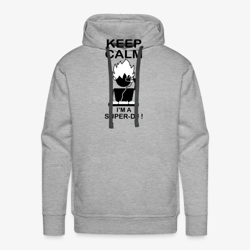 KEEP CALM SUPER DJ B&W - Sweat-shirt à capuche Premium pour hommes